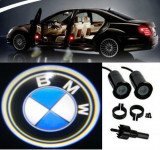 BMW, set LED logo laser auto, portiera, pe timp de noapte, welcome light