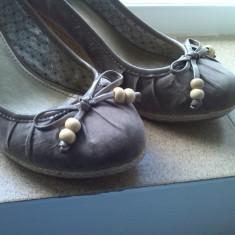 Pantofi platforme cube marime 38 - Pantof dama, Culoare: Bej