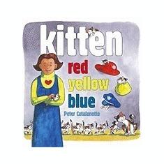 Kitten Red, Yellow, Blue - Carte in engleza