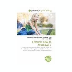 Features New to Windows 7 - Carte in engleza