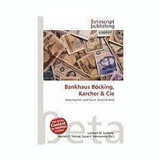 Bankhaus B Cking, Karcher & Cie - Carte in engleza