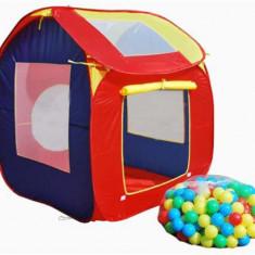 Cort joaca copii cu 200 bile Tarc joaca copii Piscina bile - Casuta copii