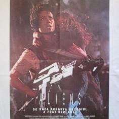 REZERVAT Afis cinema vechi Aliens, afis film Aliens, poster film