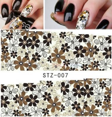 Stickere Abtibilduri Tatuaje Pe Baza De Apa Flowers Unghii Naturale