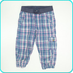 DE FIRMA _ Pantaloni ¾ subtiri, panza fina de bumbac, H&M _ fete | 8-9 ani | 134, Marime: Alta, Culoare: Multicolor