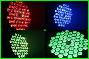 NOU ! PAR CU 54 LEDURI 3 WATT RGBW,CEL MAI PUTERNIC PAR CU LEDURI,LUMINI LED.