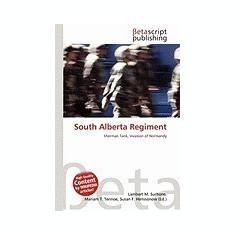 South Alberta Regiment - Carte in engleza