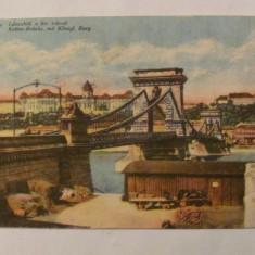 "CY - Ilustrata BUDAPESTA Ungaria ""Podul Ketten"" 1918"