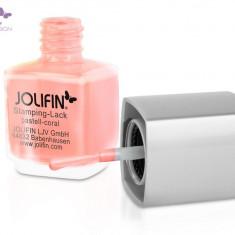 Oja speciala Jolifin pt matrita ce se aplica cu stampila, roz pastel 12 ml - Lac de unghii