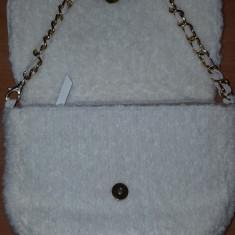 Poseta (geanta) plic imblanita Massimo Rebecchi - Italia, NOUA ! - Geanta Dama Made in Italia, Culoare: Alb, Marime: Mica