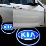Kia, set LED logo laser auto, portiera, pe timp de noapte, welcome light