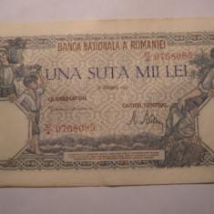 100000 lei 1946 Decembrie Aunc - Bancnota romaneasca