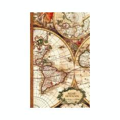 Reisenotizen: Geschenke / Kleine Reisetagebuch / Notizbuch [ Antiken Karte * 12, 7 X 20, 3 CM * Taschenbuch ] - Carte in engleza