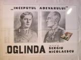 Afis cinema vechi Oglinda, afis film - Sergiu Nicolaescu Regele si Maresalul