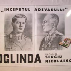 Afis cinema vechi Oglinda, afis film Oglinda - Sergiu Nicolaescu grafica aparte