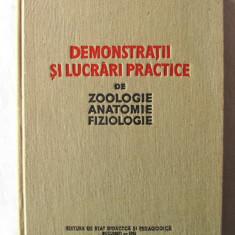"""""""DEMONSTRATII SI LUCRARI PRACTICE DE ZOOLOGIE, ANATOMIE, FIZIOLOGIE"""", 1962"""