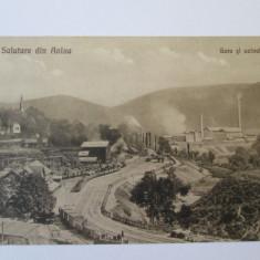 C.P. NECIRCULATA/FOTO ANINA GARA SI UZINELE ANII 20 - Carte Postala Banat dupa 1918, Fotografie