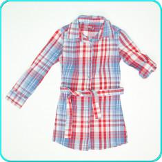 Camasa bumbac, maneci reglabile, scurte sau lungi, HILLS _ fete | 7-8 ani | 128, Culoare: Multicolor