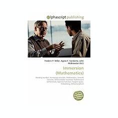 Immersion (Mathematics) - Carte in engleza