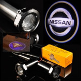 Nissan, set LED logo laser auto, portiera, pe timp de noapte, welcome light