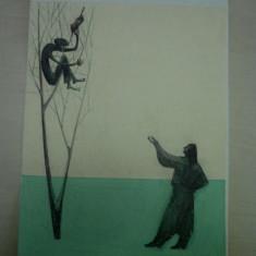 BASME TIGANESTI(carte interzisa)  Viorica Huber, DESEN ORIGINAL A.STOICESCU, Abstract, Tempera