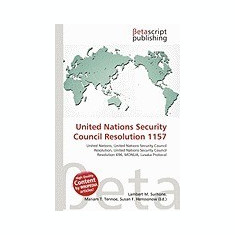 United Nations Security Council Resolution 1157 - Carte in engleza