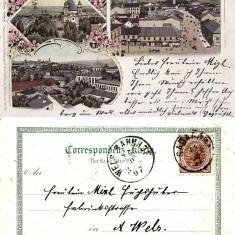 Cernauti, Bucovina - litografie 1897 - Carte Postala Bucovina pana la 1904, Circulata, Printata
