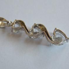 Pandant de aur 9k cu zirconii - 463 - Pandantiv aur alb