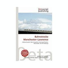 Bahnstrecke Manchester-Lawrence - Carte in engleza