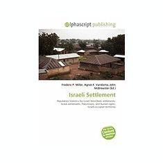 Israeli Settlement - Carte in engleza