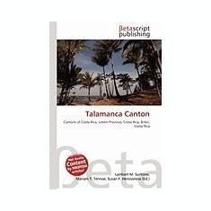 Talamanca Canton - Carte in engleza