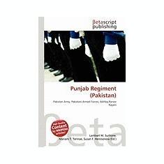 Punjab Regiment (Pakistan) - Carte in engleza