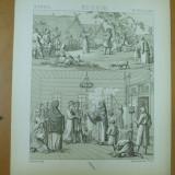 Rusia nunta slava dans rusesc litografie Paris 1876