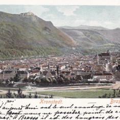BRASOV, BRASSO, KRONSTADT, CIRCULATA AUG.*901 - Carte Postala Transilvania pana la 1904, Printata