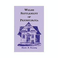 Welsh Settlement of Pennsylvania - Carte in engleza