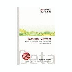 Rochester, Vermont - Carte in engleza