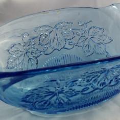 SUPERBA FRUCTIERA COS STICLA VECHE FACUTA MANUAL - Fructiera sticla