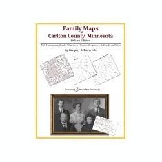 Family Maps of Carlton County, Minnesota - Carte in engleza