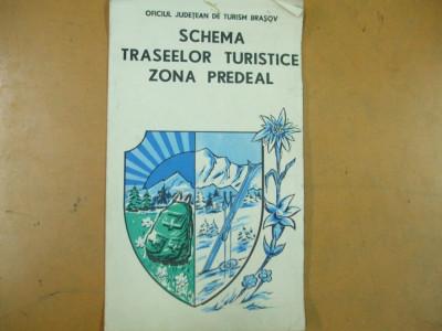 Predeal Schema Traseelor Turistice Oficiul De Turism Brasov Harta