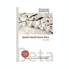 South Island Giant Moa - Carte in engleza