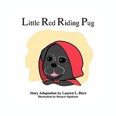 Little Red Riding Pug - Carte in engleza