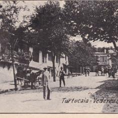 DOBROGEA, TURTUCAIA - VEDEREA UNEI STRADE, CIRCULATA AUG.*933 - Carte Postala Dobrogea dupa 1918, Printata