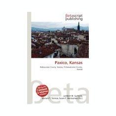 Paxico, Kansas - Carte in engleza