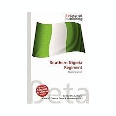 Southern Nigeria Regiment - Carte in engleza