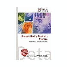 Banque Baring Brothers Sturdza - Carte in engleza