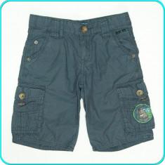 Pantaloni scurti, bumbac tip doc, talie reglabila, REVIEW KIDS _ 4 - 5 ani | 110, Marime: Alta, Culoare: Gri, Baieti