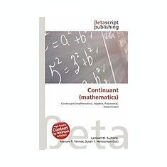 Continuant (Mathematics) - Carte in engleza
