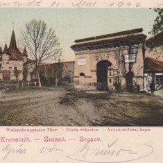 BRASOV, POARTA SCHEILOR, CIRCULATA MAI*902 - Carte Postala Transilvania pana la 1904, Printata