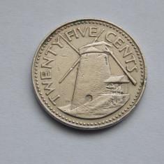 25 CENTS 1980 BARBADOS, America Centrala si de Sud