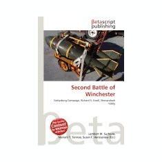 Second Battle of Winchester - Carte in engleza
